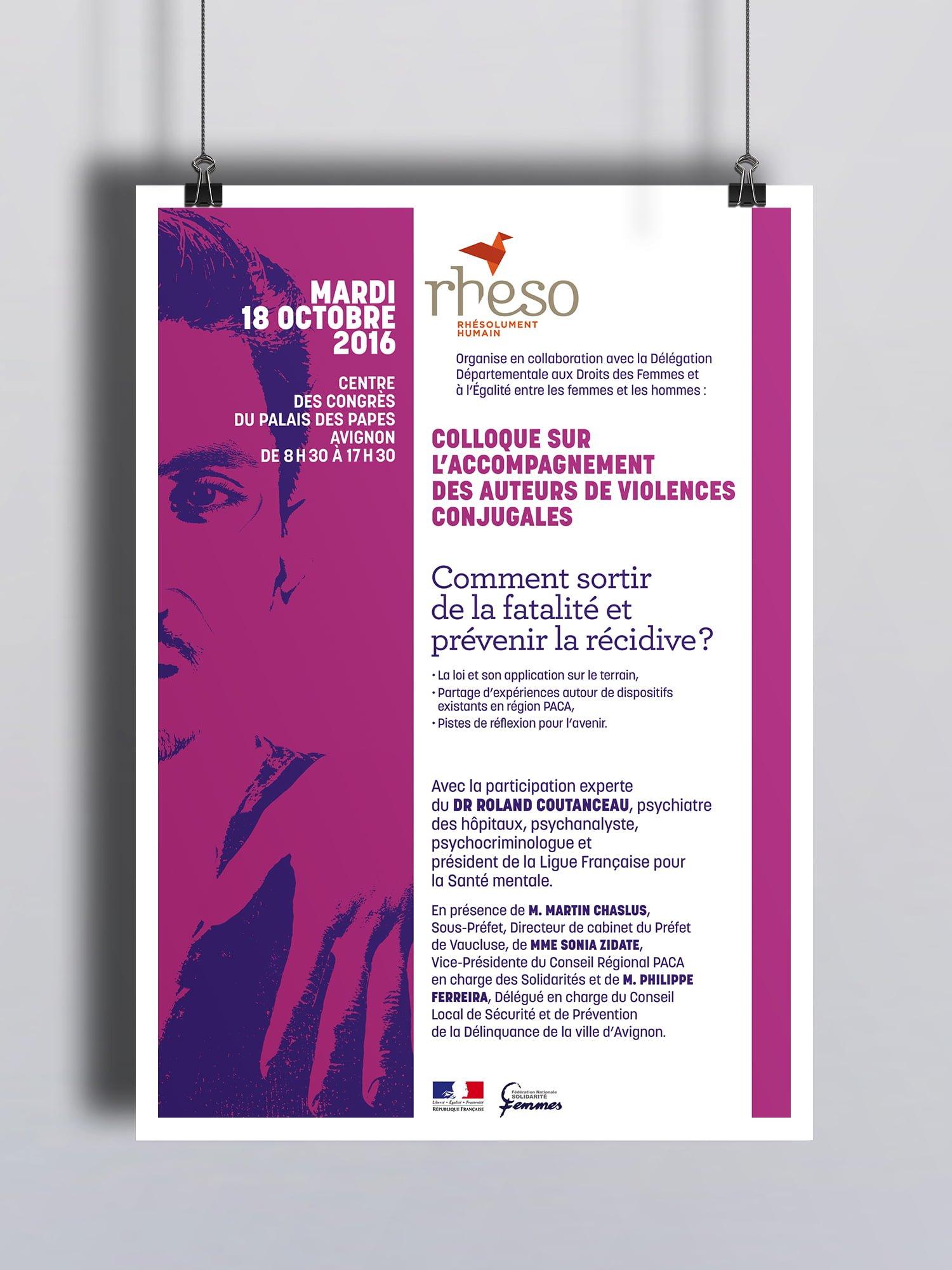 Rheso, Affiche colloque violences conjugales