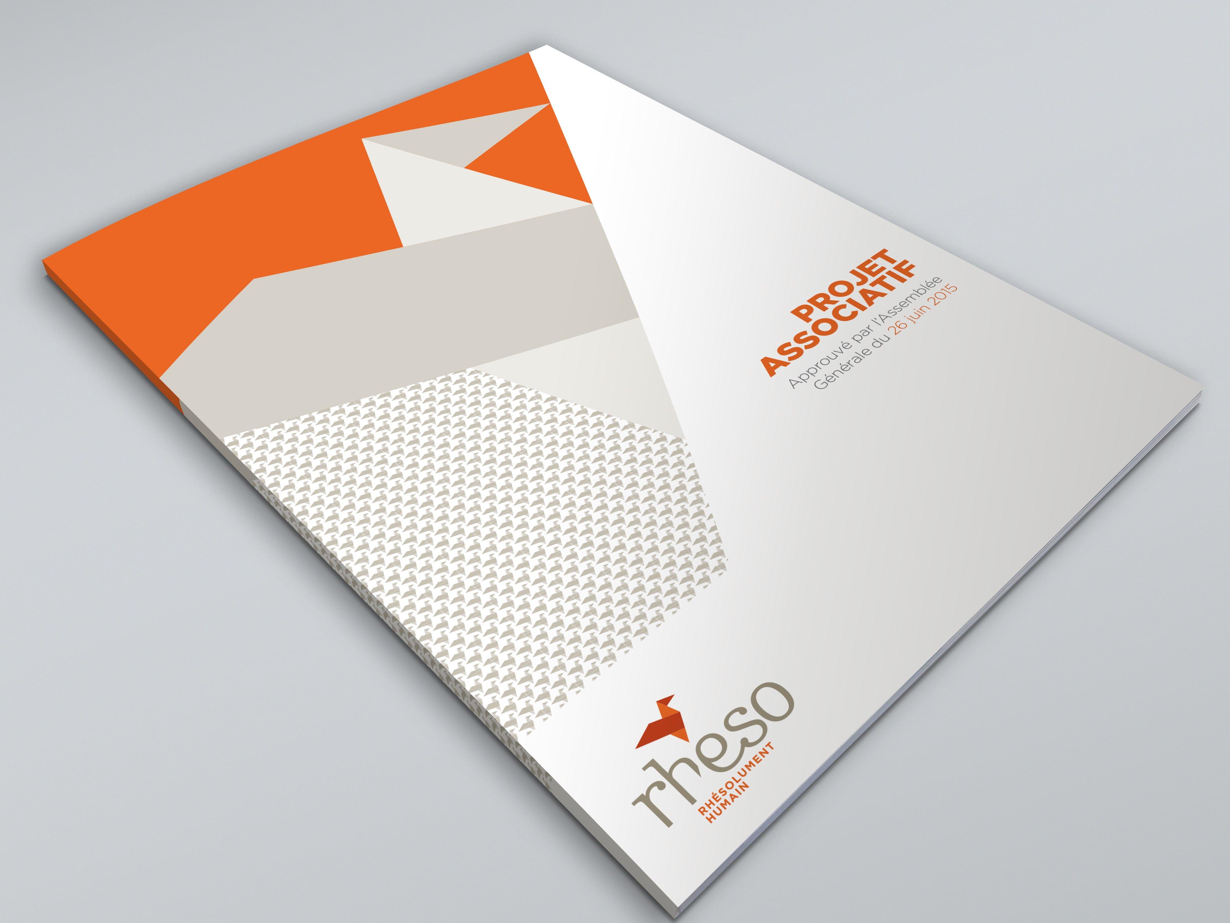 Conception graphique en edition pour l'association Rheso