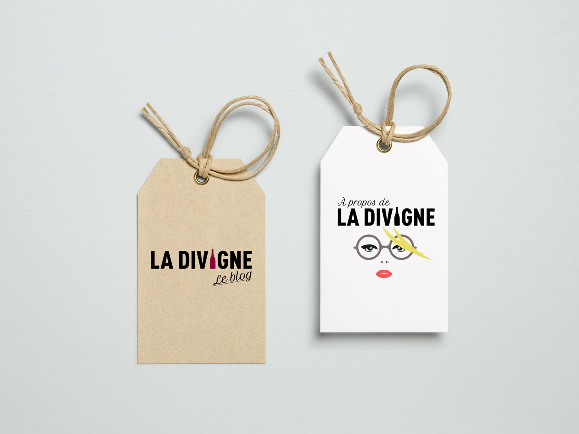 Blog de La Divigne création de l'identité visuelle, logo