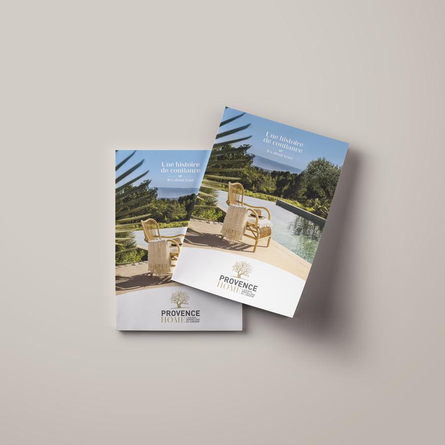 Provence Home, plaquette et logotype, Valerie Mersier
