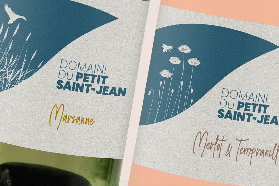 Domaine du Petit-Saint-Jean, Tour du Valat, Packaging, création étiquette, gamme de vins bio et nature